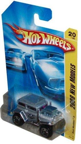 ホットウィール マテル ミニカー ホットウイール 【送料無料】Mattel Hot Wheels 2008 New Models Series 1:64 Scale Die Cast Metal Car # 20 of 40 - Silver All Terrain Sport Utility Vehicle SUV Bad Mudder ホットウィール マテル ミニカー ホットウイール