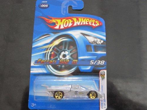 ホットウィール マテル ミニカー ホットウイール 【送料無料】Hot Wheels Ferrari 512 M 2006 First Editions #5 (Metal Flake Grey) w/ Gold 5 Spokesホットウィール マテル ミニカー ホットウイール