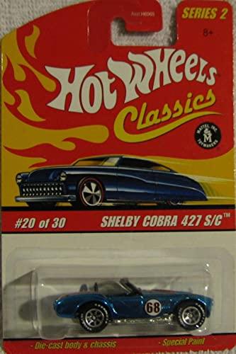 ホットウィール マテル ミニカー ホットウイール 【送料無料】Hot Wheels Classics Series 2 #20 of 30 Shelby Cobra 427 S/C BLUE 1:64 Scaleホットウィール マテル ミニカー ホットウイール