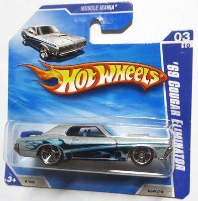 ホットウィール マテル ミニカー ホットウイール 【送料無料】Hot Wheels 2010 Metalflake Silver '69 COUGAR ELIMINATOR #89/214, Muscle Mania #3/10 (Short Card)ホットウィール マテル ミニカー ホットウイール