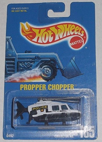 ホットウィール マテル ミニカー ホットウイール Hot Wheels 1991 #185 Propper Chopper Police Helicopterホットウィール マテル ミニカー ホットウイール