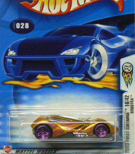 ホットウィール マテル ミニカー ホットウイール Hot Wheels Mattel 2003 First Editions 1:64 Scale オレンジ Sinistra Die Cast Car #028ホットウィール マテル ミニカー ホットウイール