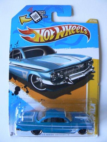 ホットウィール マテル ミニカー ホットウイール 【送料無料】Hot Wheels 2012 New Models 37/50 Blue '61 Impala Collector#37/247ホットウィール マテル ミニカー ホットウイール