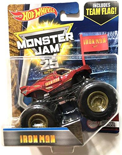 ホットウィール マテル ミニカー ホットウイール 【送料無料】Hot Wheels Monster Jam Iron Man Monster Truck With Team Flagホットウィール マテル ミニカー ホットウイール