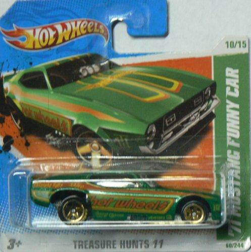 ホットウィール マテル ミニカー ホットウイール Hot Wheels Treasure Hunts '11 10/15 '71 Mustang Funny Car on Short Cardホットウィール マテル ミニカー ホットウイール