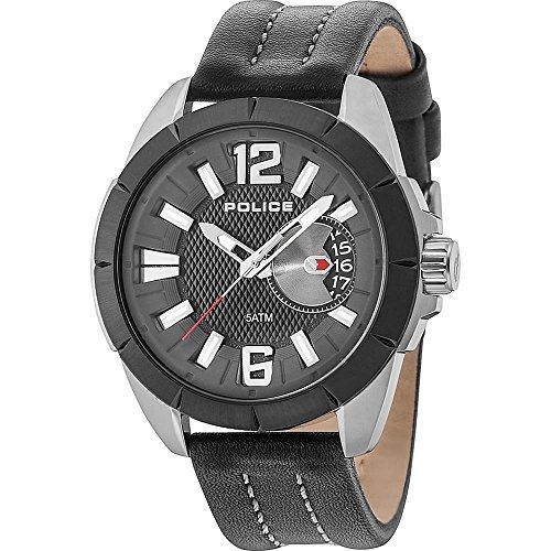 ポリス 腕時計 メンズ 【送料無料】Police Men's Watch PITCHER PL.15240JSUB/02 Black Leather 47 mm Date Displayポリス 腕時計 メンズ