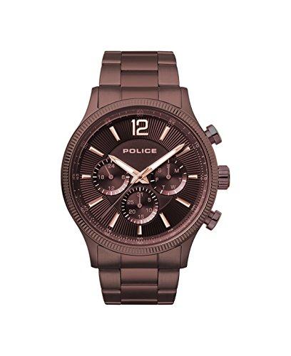 ポリス 腕時計 メンズ 【送料無料】Police Mens Multi dial Quartz Watch with Stainless Steel Strap PL.15302JSBN/12Mポリス 腕時計 メンズ