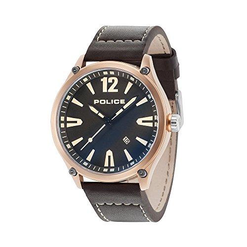 ポリス 腕時計 メンズ 【送料無料】Police Mens Analogue Classic Quartz Watch with Leather Strap 15244JBR/02ポリス 腕時計 メンズ
