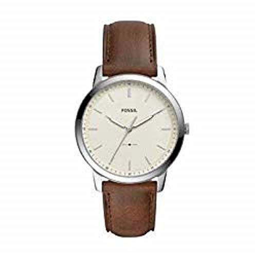 フォッシル 腕時計 メンズ Fossil Men's The The Minimalist 3H Stainless Steel Analog-Quartz Watch with Leather Calfskin Strap, Brown, 22 (Model: FS5439)フォッシル 腕時計 メンズ