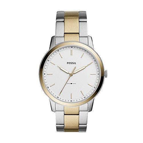 フォッシル 腕時計 メンズ Fossil Men's The The Minimalist 3H Analog-Quartz Watch with Stainless-Steel Strap, Silver, 22 (Model: FS5441)フォッシル 腕時計 メンズ