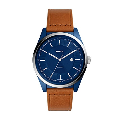 フォッシル 腕時計 メンズ Fossil Men's Mathis Quartz Stainless Steel and Leather Casual Watch Color: Blue Silver (Model: FS5422)フォッシル 腕時計 メンズ