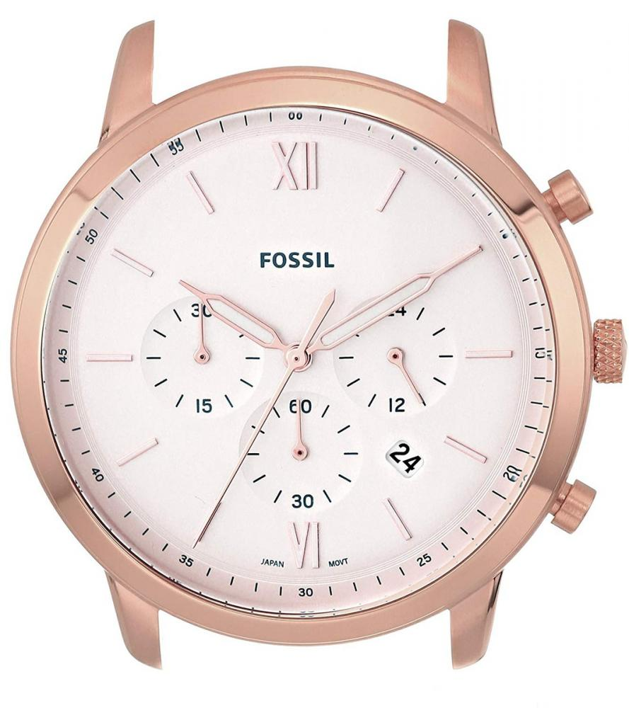 フォッシル 腕時計 メンズ Fossil Men's Neutra Chrono Quartz Watch with Stainless-Steel Strap, White, 20 (Model: C221047)フォッシル 腕時計 メンズ