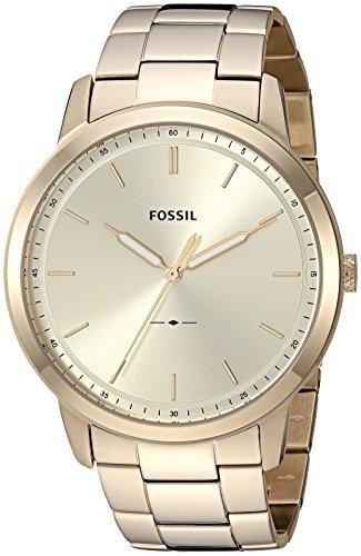 フォッシル 腕時計 メンズ Fossil Men's The The Minimalist 3H Quartz Stainless-Steel-Plated Strap, Gold, 22 Casual Watch (Model: FS5462)フォッシル 腕時計 メンズ