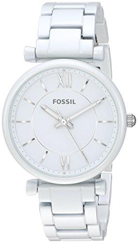 フォッシル 腕時計 レディース Fossil Women's ES4401 Carlie Analog Display Analog Quartz White Watchフォッシル 腕時計 レディース