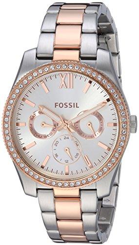 フォッシル 腕時計 レディース Fossil Women's Scarlette Quartz Watch with Stainless-Steel Strap, Rose Gold, 17.5 (Model: ES4373)フォッシル 腕時計 レディース
