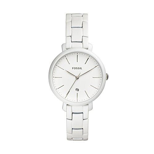 フォッシル 腕時計 レディース Fossil Women's Jacqueline Analog-Quartz Watch with Stainless-Steel Strap, White, 14 (Model: ES4397)フォッシル 腕時計 レディース
