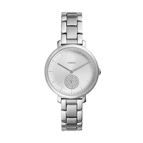 フォッシル 腕時計 レディース Fossil Women's Jacqueline Quartz Stainless-Steel Strap, Silver, 14 Casual Watch (Model: ES4437)フォッシル 腕時計 レディース