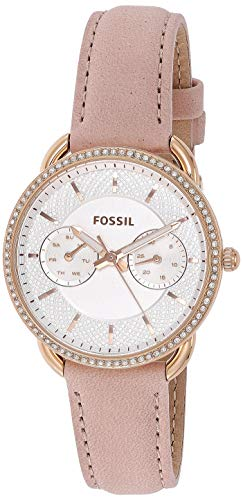 フォッシル 腕時計 レディース Fossil Women's Tailor Quartz Stainless Steel and Leather Casual Watch, Color: Rose Gold, Pink (Model: ES4393)フォッシル 腕時計 レディース