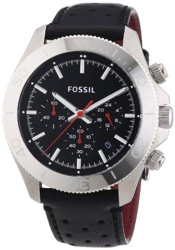 フォッシル 腕時計 レディース Fossil Retro Traveler Chronograph Leather Watch - Black Ch2859フォッシル 腕時計 レディース