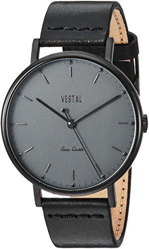 ベスタル ヴェスタル 腕時計 レディース Vestal Sophisticate Leather Stainless Steel Swiss-Quartz Watch with Strap, Black, 20 (Model: SP42L09.BKベスタル ヴェスタル 腕時計 レディース