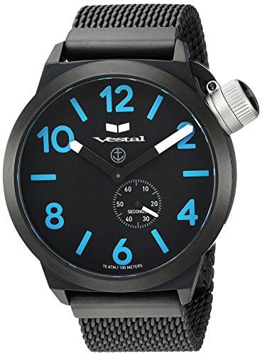 ベスタル ヴェスタル 腕時計 レディース 【送料無料】Vestal Unisex CNT453M08.MBKM Canteen Metal Analog Display Analog Quartz Black Watchベスタル ヴェスタル 腕時計 レディース
