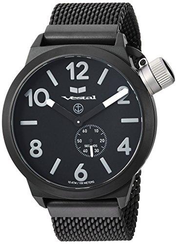ベスタル ヴェスタル 腕時計 レディース Vestal Unisex CNT453M06.MBKM Canteen Metal Analog Display Analog Quartz Black Watchベスタル ヴェスタル 腕時計 レディース