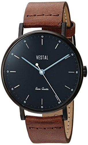 ベスタル ヴェスタル 腕時計 レディース Vestal Sophisticate Leather Stainless Steel Swiss-Quartz Watch with Strap, Brown, 20 (Model: SP42L07.BRベスタル ヴェスタル 腕時計 レディース