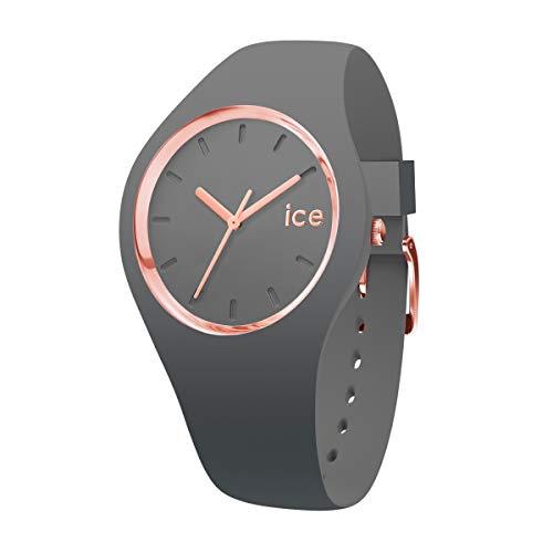 アイスウォッチ 腕時計 レディース かわいい Ice-Watch ICE GLAM COLOR Medium Grey Silicone Band Women's Watch 015336アイスウォッチ 腕時計 レディース かわいい