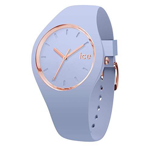 アイスウォッチ 腕時計 レディース かわいい Ice-Watch ICE GLAM COLOR Medium Light Blue Silicone Band Women's Watch 015333アイスウォッチ 腕時計 レディース かわいい