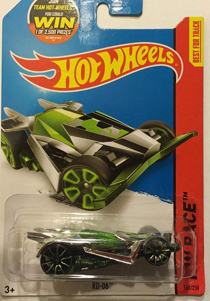 ホットウィール マテル ミニカー ホットウイール Hot Wheels, 2015 HW Race, RD-06 [Chrome/Green] Die-Cast Vehicle #160/250ホットウィール マテル ミニカー ホットウイール