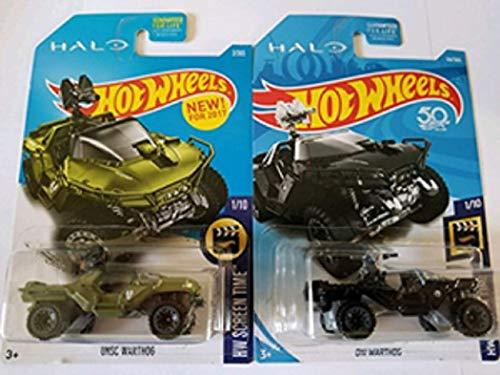 ホットウィール マテル ミニカー ホットウイール Hot Wheels HALO Hw Screen Time UNSC Warthog (Green) & ONI Warthog (Black) - Set of 2!ホットウィール マテル ミニカー ホットウイール