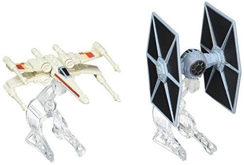ホットウィール マテル ミニカー ホットウイール 【送料無料】Hot Wheels Star Wars Starship TIE Fighter vs. X-Wing Vehicle 2-Packホットウィール マテル ミニカー ホットウイール