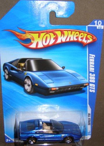 ホットウィール マテル ミニカー ホットウイール 【送料無料】Hot Wheels 2010-128/240 ALL Stars 10/10 Ferrari 308 GTS Keys to Speed Instant Win Card BLUE 1:64 Scaleホットウィール マテル ミニカー ホットウイール