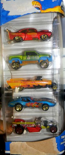 ホットウィール マテル ミニカー ホットウイール 【送料無料】2002 HOTWHEELS TIKI BLASTERS 5 CAR PACK GIFT SETホットウィール マテル ミニカー ホットウイール