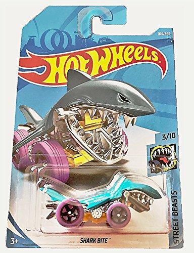 ホットウィール マテル ミニカー ホットウイール 【送料無料】Hot Wheels 2018 50th Anniversary Street Beasts Shark Bite (Shark Car) 164/365, Aqua Blueホットウィール マテル ミニカー ホットウイール