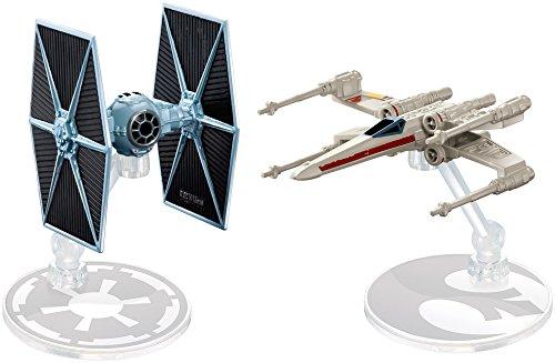 ホットウィール マテル ミニカー ホットウイール 【送料無料】Hot Wheels Star Wars Rogue One Tie Fighter Blue vs. X-Wing Red 2 Wings Open Vehicle (2 Pack)ホットウィール マテル ミニカー ホットウイール