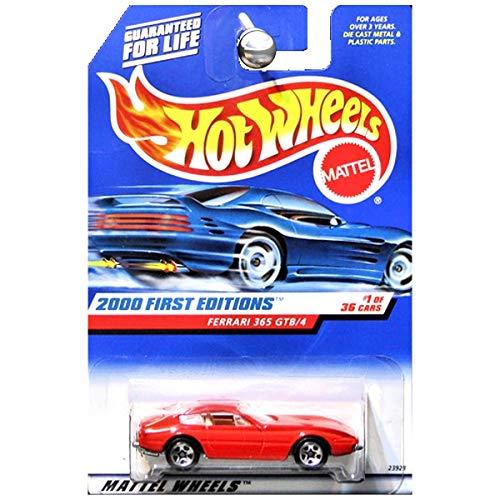 ホットウィール マテル ミニカー ホットウイール 【送料無料】Mattel Hot Wheels 2000 First Editions 1:64 Scale Red Ferrari 365 GTB/4 Die Cast Car #001ホットウィール マテル ミニカー ホットウイール