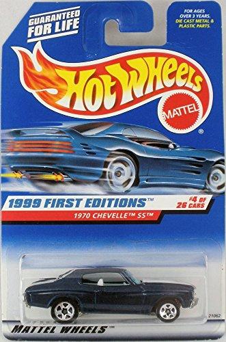 ホットウィール マテル ミニカー ホットウイール Hot Wheels '70 Chevy Chevelle SS 1999 First Editions 青 1970 Chevelle SS 1:64 Scale Collectible Die Cast Metal Toy Car Model #4/26ホットウィール マテル ミニカー ホットウイール