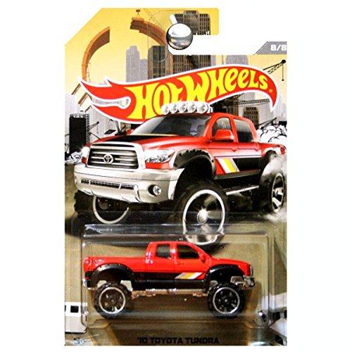 ホットウィール マテル ミニカー ホットウイール 【送料無料】HOT WHEELS RAD TRUCKS EXCLUSIVE RED '10 TOYOTA TUNDRA DIE-CASTホットウィール マテル ミニカー ホットウイール