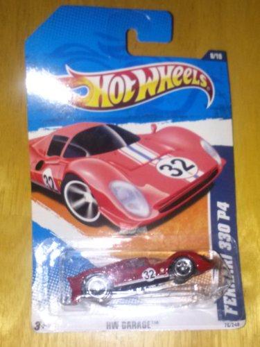 ホットウィール マテル ミニカー ホットウイール 【送料無料】Hot Wheels 2010 76/240 - HW Garage 8/10 - Ferrari 330 P4, 1:64 Scale (Red)ホットウィール マテル ミニカー ホットウイール