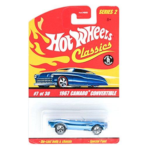 ホットウィール マテル ミニカー ホットウイール Hot Wheels Classics Series 2 1967 Camaro Convertible DARK 青 Online Exclusive #7 7/30 1:64 Scaleホットウィール マテル ミニカー ホットウイール