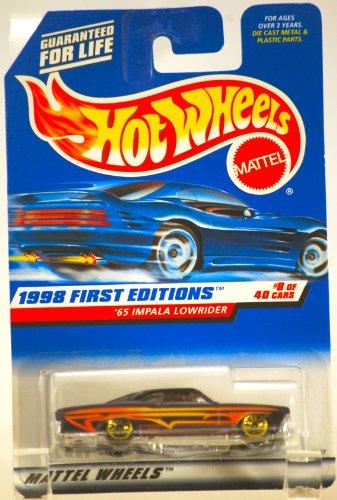 ホットウィール マテル ミニカー ホットウイール 【送料無料】1998 - Mattel / Hot Wheels - 1965 Impala Lowrider (Purple w/Yellow Stripes) - 1998 First Editions #8 of 40 Cars - MOC - 1:64 Scale Die Cast ホットウィール マテル ミニカー ホットウイール
