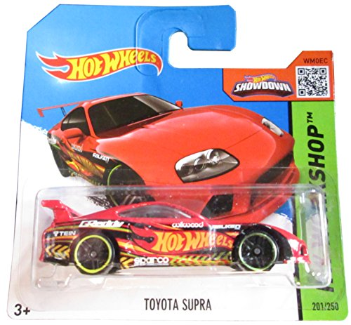 無料ラッピングでプレゼントや贈り物にも 逆輸入並行輸入送料込 ホットウィール マテル ミニカー ホットウイール 送料無料 入手困難 Hot Wheels HW on 201 Cardホットウィール Short Red 250 Toyota 国内在庫 Workshop Supra