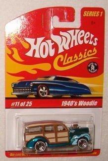 ホットウィール マテル ミニカー ホットウイール 【送料無料】Hot Wheels Classic Series 1: 1940's Ford Woodie #11 of 25 1:64 Scale Collectible Die Cast Car with a Special Spectraflame Paintホットウィール マテル ミニカー ホットウイール
