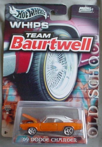 ホットウィール マテル ミニカー ホットウイール Hot Wheels Team Baurtwell WHIPS Old School '69 Dodge Charger ORANGEホットウィール マテル ミニカー ホットウイール