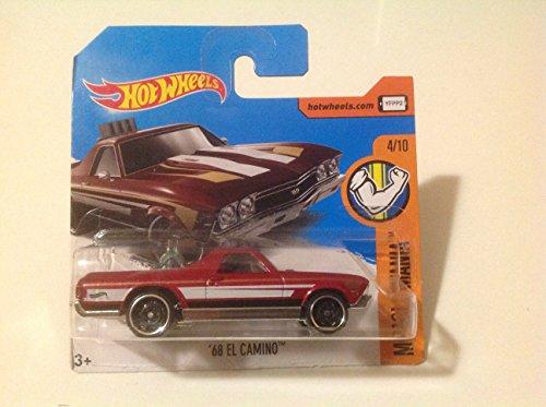 ホットウィール マテル ミニカー ホットウイール 【送料無料】Hot Wheels Short Card Muscle Mania '68 El Camino Red #216/365ホットウィール マテル ミニカー ホットウイール
