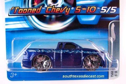 ホットウィール マテル ミニカー ホットウイール 【送料無料】Hot Wheels Blue Tooned Chevy S-10 Short Card 120 5/5 2005ホットウィール マテル ミニカー ホットウイール