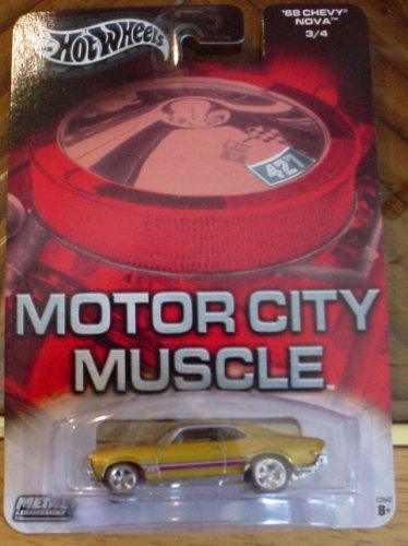 ホットウィール マテル ミニカー ホットウイール 【送料無料】Hot Wheels Motor City Muscle '68 Chevy Nova 3/4 Goldホットウィール マテル ミニカー ホットウイール