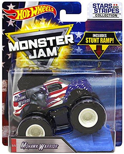 ホットウィール マテル ミニカー ホットウイール 【送料無料】Hot Wheels Monster Jam 2018 Stars and Stripes Mohawk Warrior 1:64 Scaleホットウィール マテル ミニカー ホットウイール