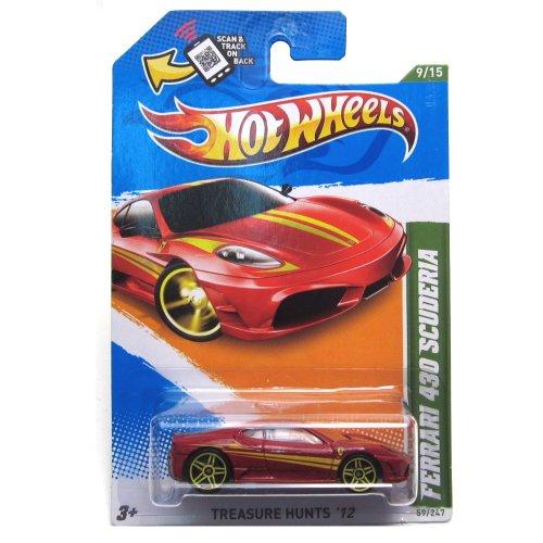 ホットウィール マテル ミニカー ホットウイール 【送料無料】Hot Wheels 2012 Ferrari 430 Scuderia Car Red Treasure Hunts 59ホットウィール マテル ミニカー ホットウイール